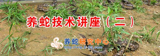 养蛇技术讲座(二)