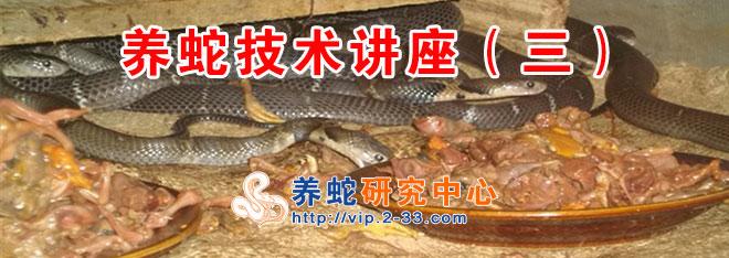 养蛇技术讲座(三)